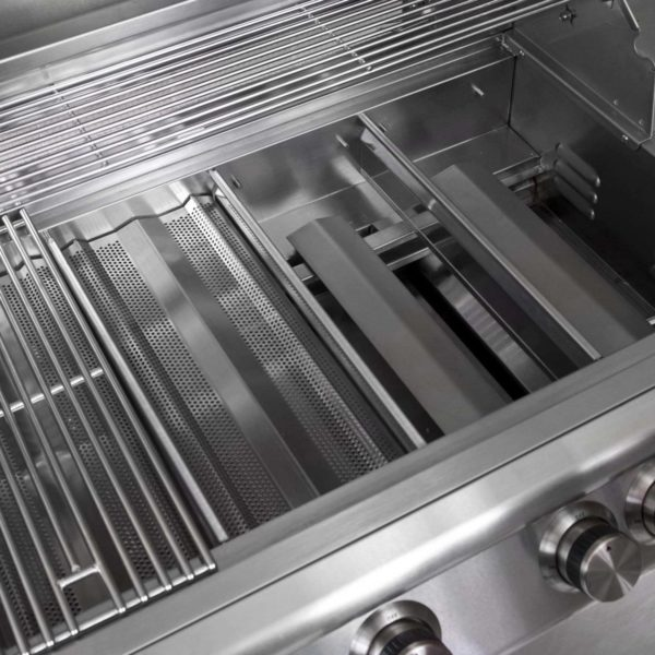 Stainless steel internal components of outdoor grill