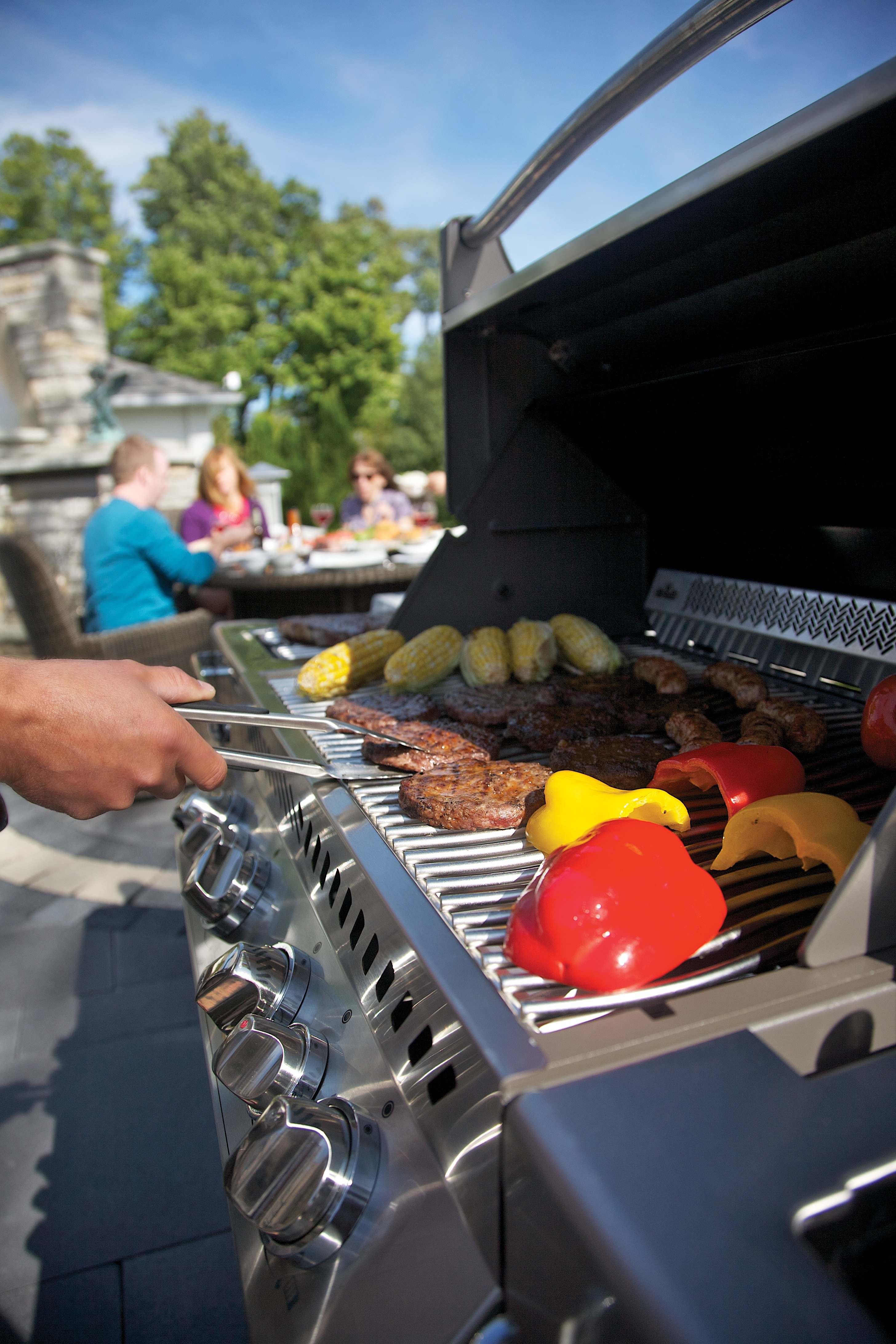 Modern Stainless Steel Outdoor Grill