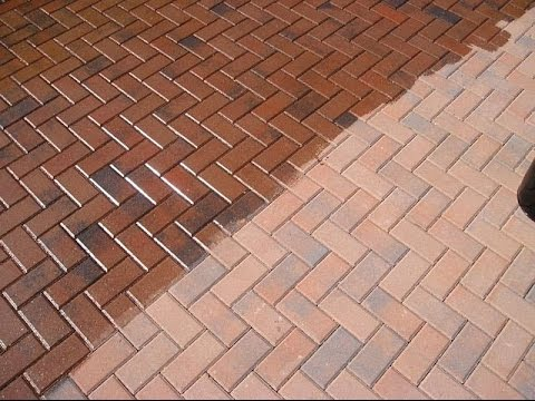 Patio Paver Sealing Before and After